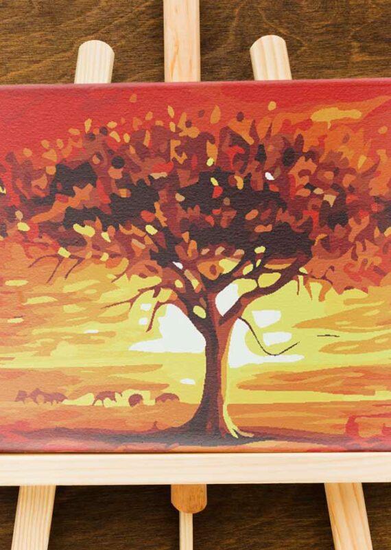 Malowanie po numerach – Drzewo na sawannie