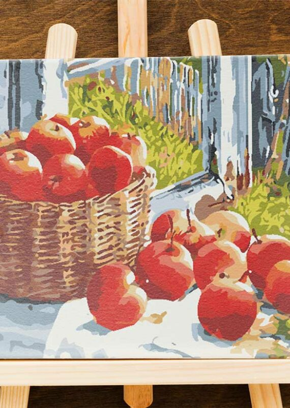 Malowanie po numerach – Jabłka w wiklinie