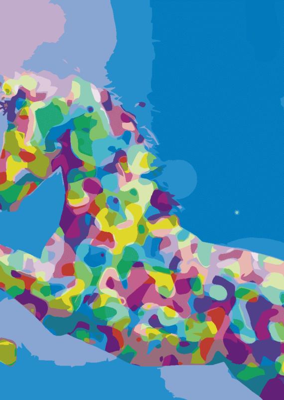 Malowanie po numerach – Jednorożec z marzeń