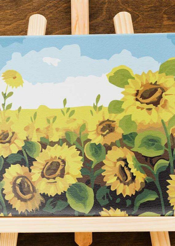 Malowanie po numerach – Twoje słoneczniki