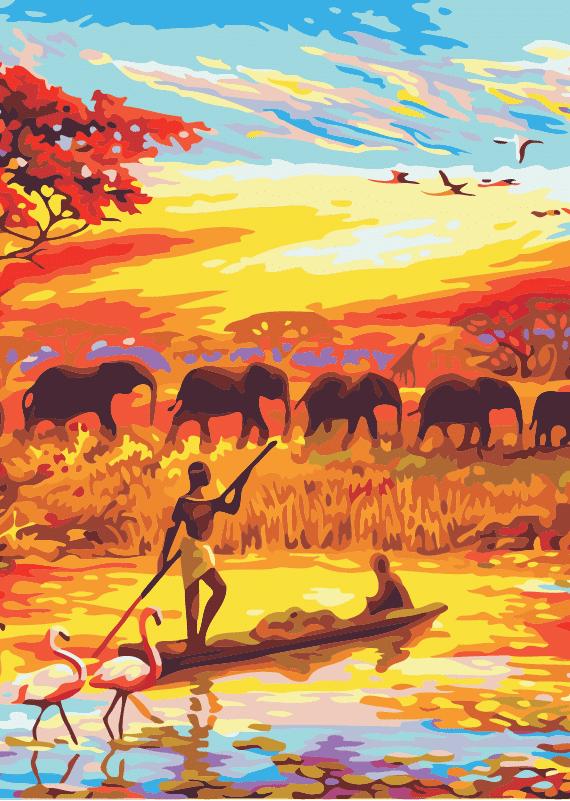 Malowanie po numerach – Pożegnanie z Afryką