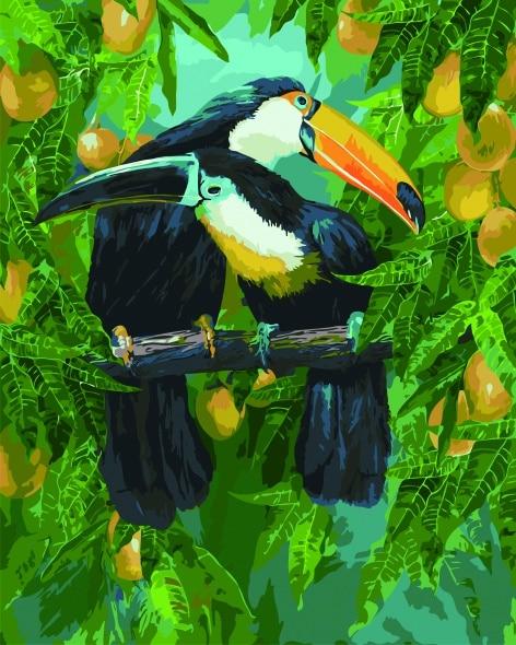 Malowanie po numerach – Rajskie tukany