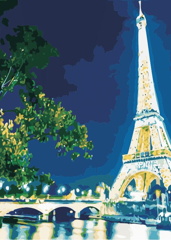 Malowanie po numerach – Wieża Eiffla