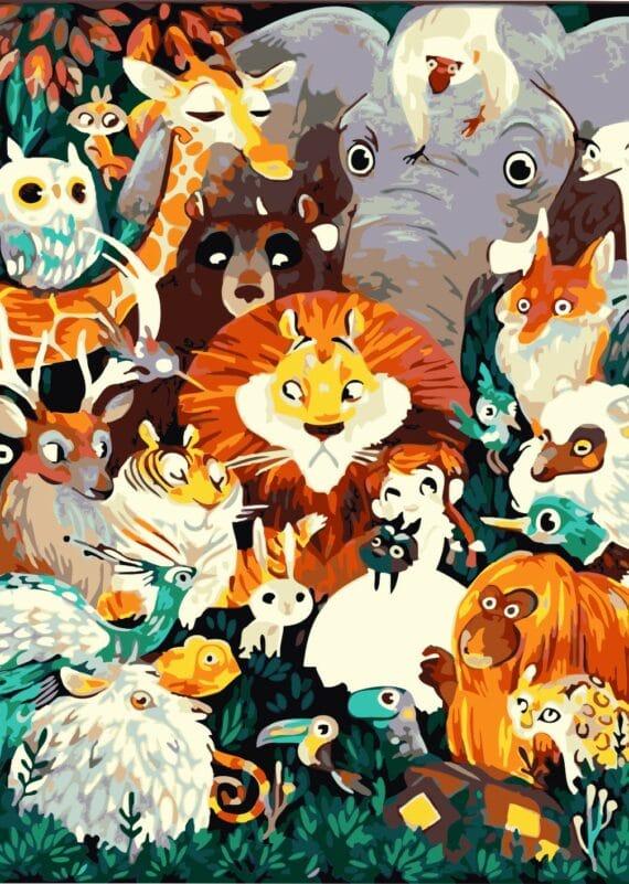Malowanie po numerach – Zoo