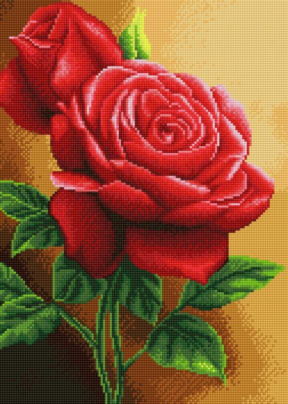 Haft diamentowy – Róża